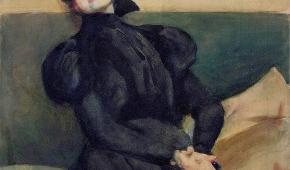 Portret Gabrieli Zapolskiej, 1898 r., Julian Falat, Wikimedia Commons