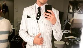 """Dominik Mironiuk przed pokazem musicalu """"Pretty Woman"""". Fot. archiwum prywatne"""