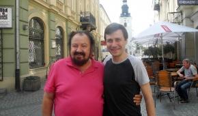 Kaludi Kaludov i organizator Festiwalu Sztuki Muzycznej Radosław Blonka. Fot. P.Reising