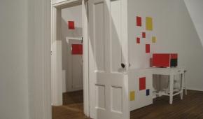 makieta pracowni Mondriana