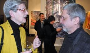 Rozmowa z artystą. fot.P.Reising