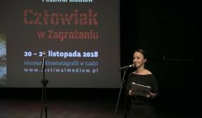 Agata Gwizdała, prowadzące uroczystość