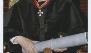 Stanisław Fijałkowski. Podczas wręczenia doktoratu honoris causa ASP w Łodzi, 2002. Fot. z archiwum ASP w Łodzi
