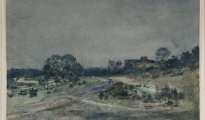 "Samuel Hirszenberg ""Inowłódz"", akwarela, 1890 r."