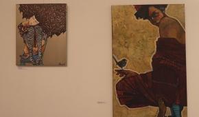 Obrazy Agaty Bajszczak i  Magdaleny Połacik