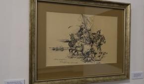 """""""Bitwa o turecki sztandar"""", 1962, tusz na papierze"""
