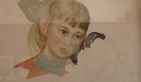 Niedokończony portret córki (fragment)