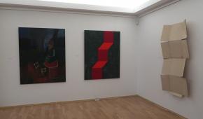 Od lewej prace: Piotra Kotlickiego, Ryszarda Hungera i Tomasza Matuszaka