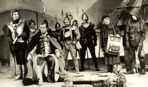 Dialogus de Passione, na zdjęciu: Marek Barbasiewicz, Jerzy Krasuń, Józef Duriasz, Wiesław Wieremiejczyk, Bogusław Mach.