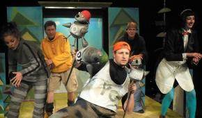 """Spektakl """"Moje – nie moje"""", Żaneta Małkowska, Włodzimierz Twardowski, Łukasz Bzura, Krzysztof Ciesielski, Ewa Wróblewska, premiera 12 września 2007 rok,/mat.prasowe"""