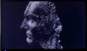 """Animacja 3D z użyciem photogrammetry. Wystawa """"Reality Of Pixels"""" w Pracowni Portretu. Fot. Maciej Łuczak"""