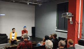 Duet Siksa na spotkaniu po pokazie filmu. Fot. mat. organizatora
