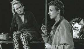 """Spektakl """"Umrzeć ze śmiechu"""",  Anna Sztuder-Mieszek, Katarzyna Sokołowska, premiera 18 października 1997 rok/mat.prasowe"""