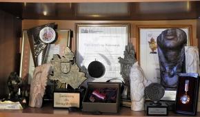 Nagrody i wyróżnienia pani Krystyny. Fot.P.Reising
