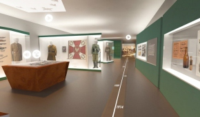 Wizualizacja fragmentu ekspozycji o dziejach miasta , aut. DS Studio Damian Szulc